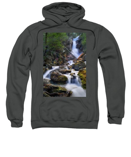 Sweatshirt featuring the photograph Upper Race Brook Falls 2017 by Bill Wakeley