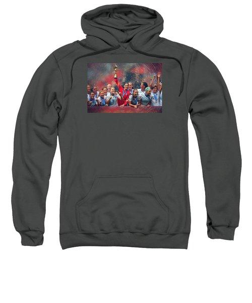 Us Women's Soccer Sweatshirt by Semih Yurdabak