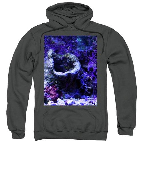 Sweatshirt featuring the digital art Uw Coral Stone by Francesca Mackenney
