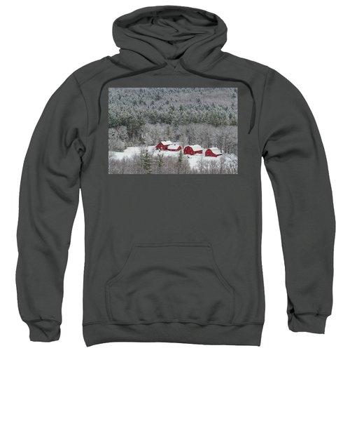 Valley Farm In Winter Sweatshirt