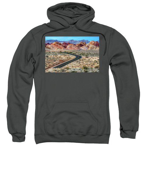 Road Through The Valley Of Fire Sweatshirt