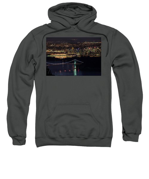 Vancouver Night From Cypress Mountain Sweatshirt