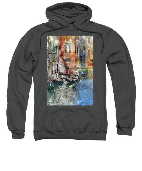 Venetian Gondolier In Venice Italy Sweatshirt