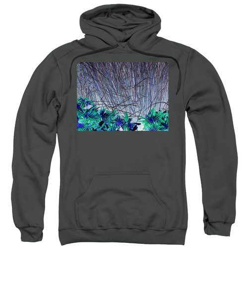 Venus Blue Botanical Sweatshirt