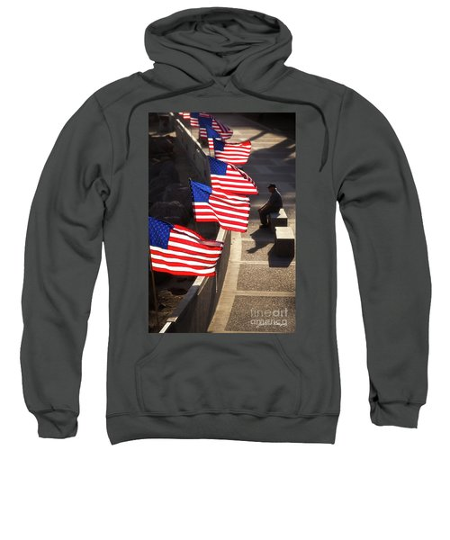 Veteran With Our Nations Flags Sweatshirt