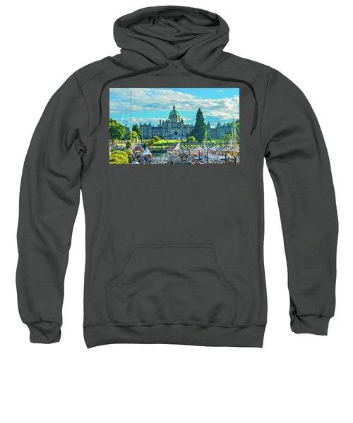 Victoria Bc Parliament Harbor Sweatshirt
