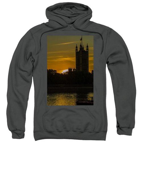 Victoria Tower In London Golden Hour Sweatshirt