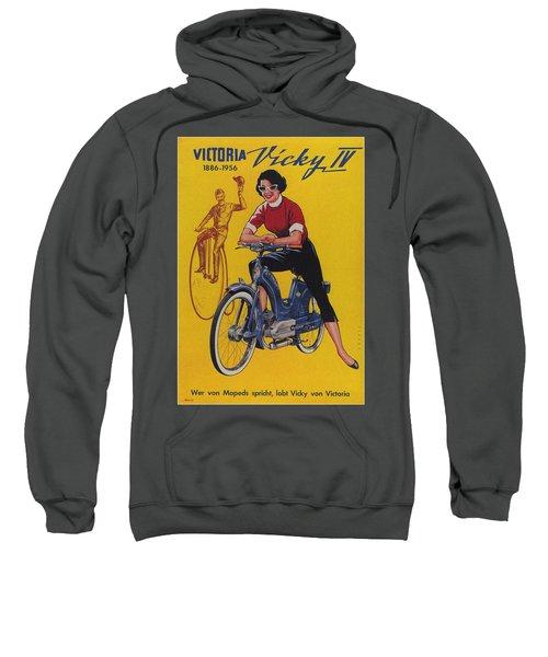 Victoria Vicky Iv - Motorcycle - Vintage Advertising Poster Sweatshirt