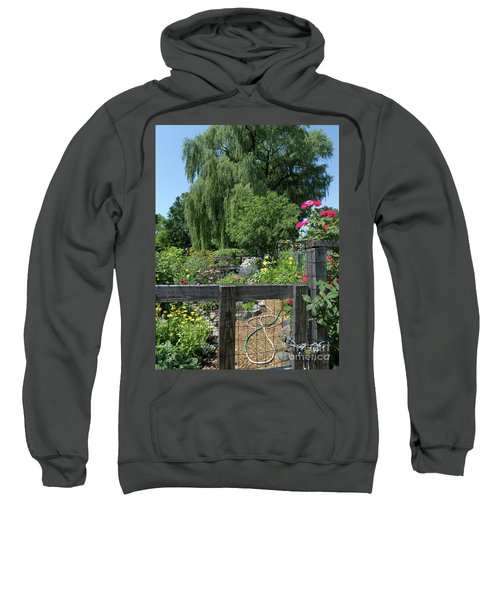 Victory Garden Lot And Willow Tree, Boston, Massachusetts  -30958 Sweatshirt