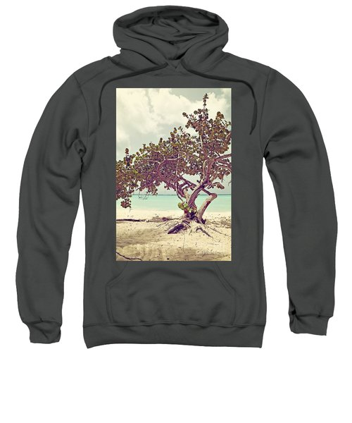 View At The Ocean With Boats In The Water Sweatshirt