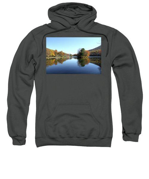 View Of Abbott Lake With Trees On Island, In Autumn Sweatshirt
