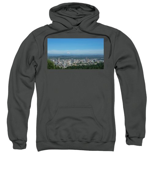View Of Downtown Portland Oregon From Pittock Mansion Sweatshirt