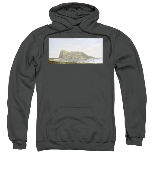 View Of The Rock Of Gibraltar From The Mainland Sweatshirt