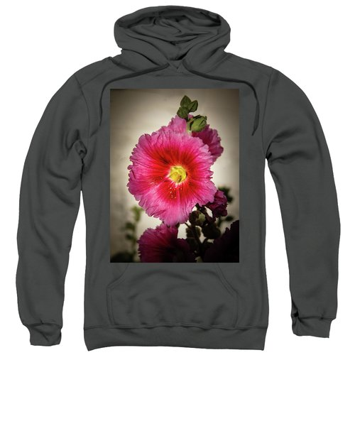 Vignetted Hollyhock Sweatshirt