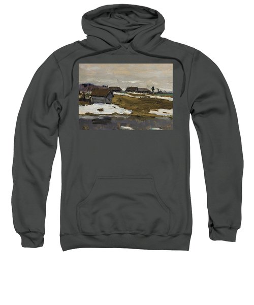 Village By The Water In Winter Sweatshirt
