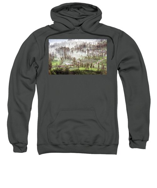 Village Covered With Mist Sweatshirt