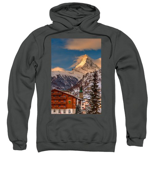 Village Of Zermatt With Matterhorn Sweatshirt