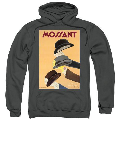 Vintage Advertising Poster For Mossant Hats Sweatshirt