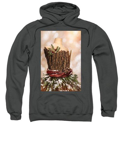 Vintage Christmas Greetings Card Sweatshirt