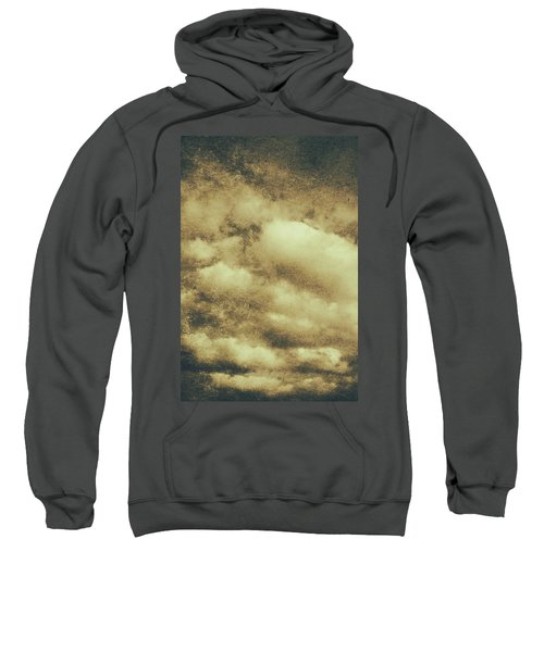 Vintage Cloudy Sky. Old Day Background Sweatshirt