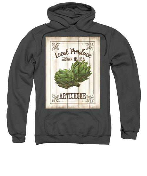 Vintage Fresh Vegetables 2 Sweatshirt by Debbie DeWitt