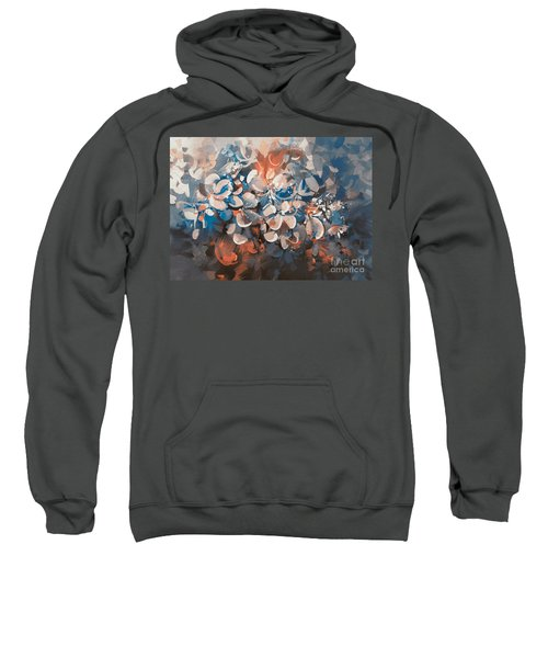 Sweatshirt featuring the painting Vintage Petal by Tithi Luadthong