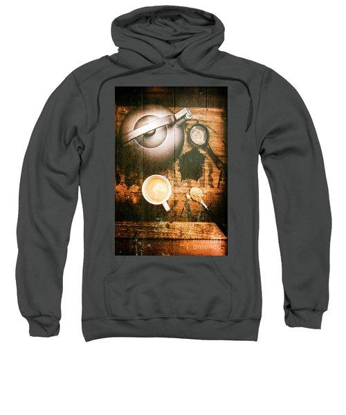 Vintage Tea Crate Cafe Art Sweatshirt