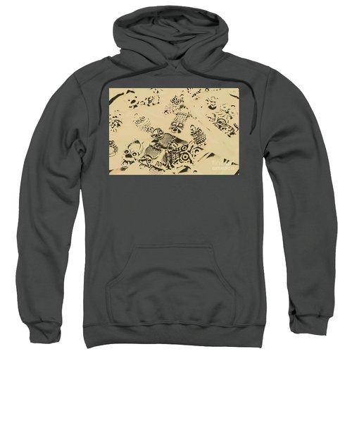 Vintage Toned Owls Sweatshirt
