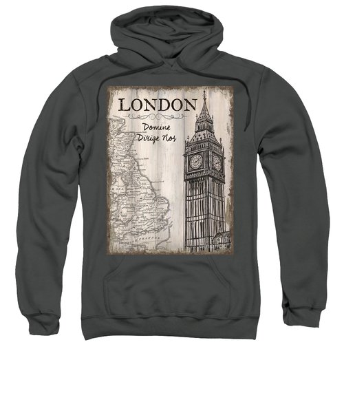Vintage Travel Poster London Sweatshirt