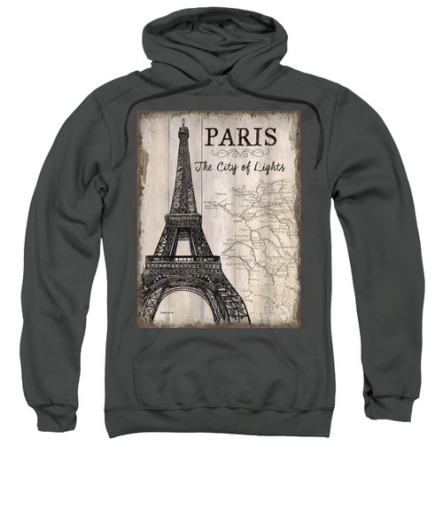 Vintage Travel Poster Paris Sweatshirt