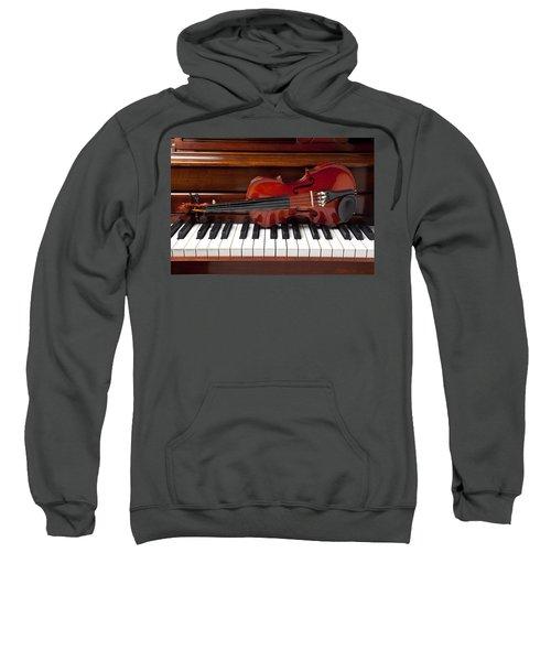 Violin On Piano Sweatshirt