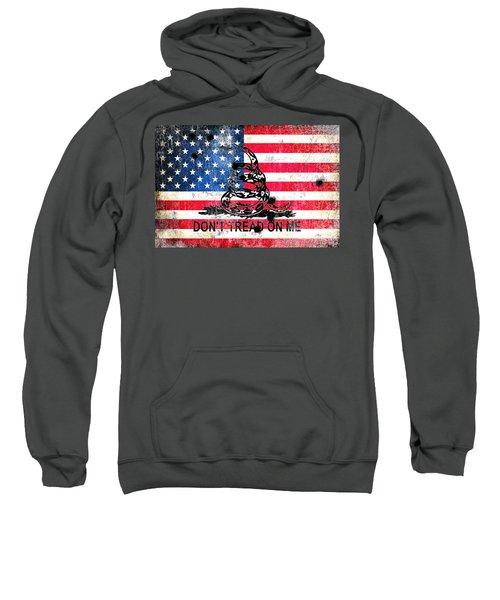 Viper N Bullet Holes On Old Glory Sweatshirt