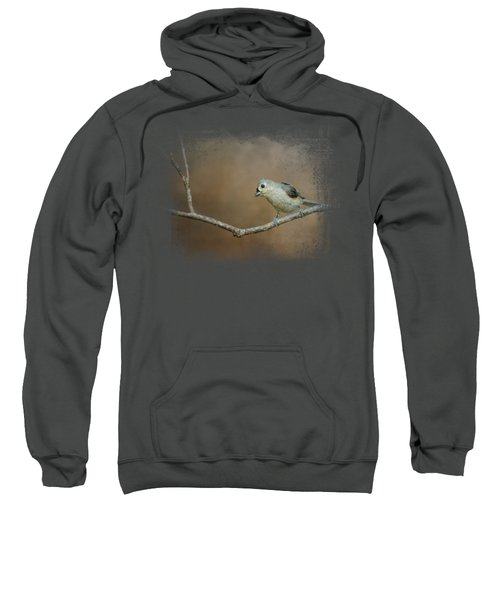 Visiting Tufted Titmouse Sweatshirt