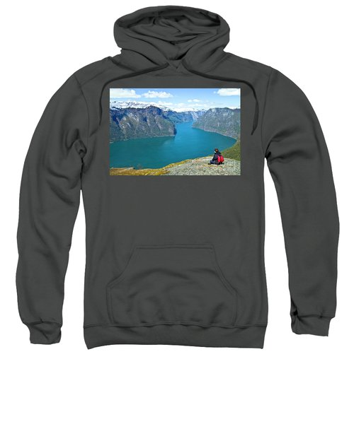Visitor At Aurlandsfjord Sweatshirt