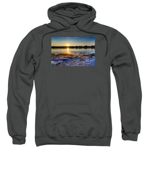 Vistula River Sunset 3 Sweatshirt