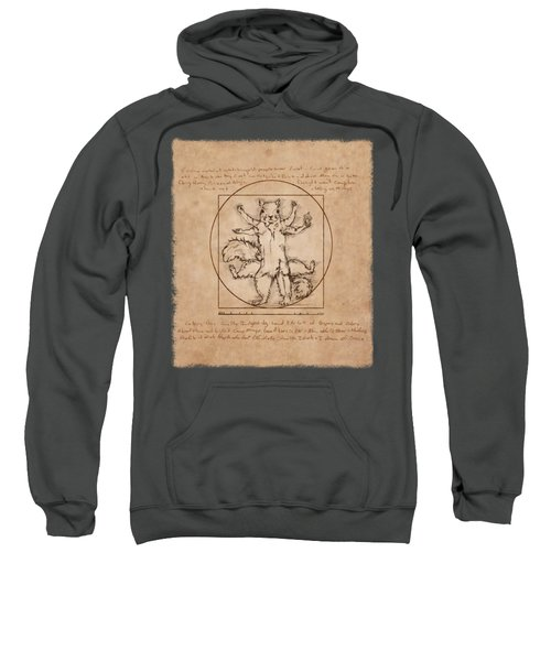 Vitruvian Squirrel Sweatshirt by Katherine Nutt
