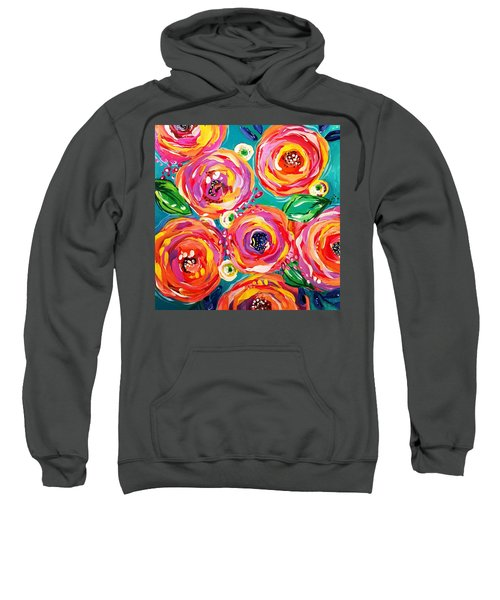 Vivid Flora Sweatshirt by DAKRI Sinclair