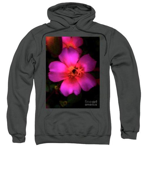 Vivid Rich Pink Flower Sweatshirt