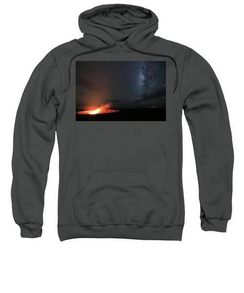 Volcano Under The Milky Way Sweatshirt