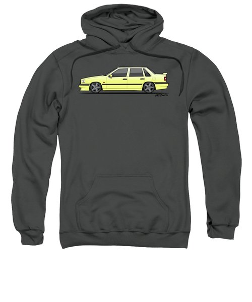 Volvo 850r 854r T5-r Creme Yellow Sweatshirt by Monkey Crisis On Mars
