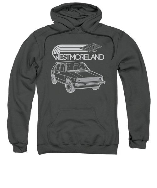 Vw Rabbit - Westmoreland Theme - Gray Sweatshirt by Ed Jackson