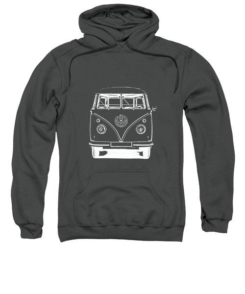 Vw Van Graphic Artwork Tee White Sweatshirt by Edward Fielding