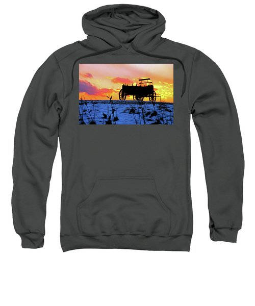 Wagon Hill At Sunset Sweatshirt
