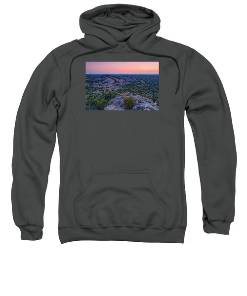 Waiting For Sunrise At Turkey Peak - Enchanted Rock Fredericksburg Texas Hill Country Sweatshirt