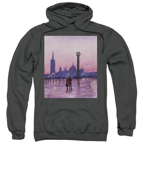 Walk In Italy In The Rain Sweatshirt