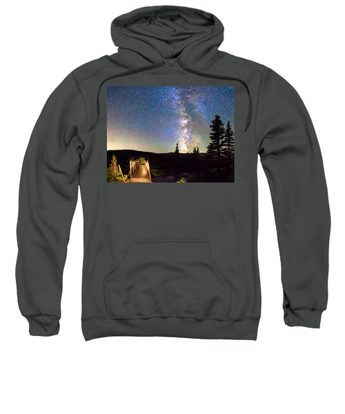 Walking Bridge To The Milky Way Sweatshirt