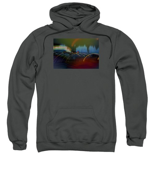 Walking In Carnival Lights Sweatshirt
