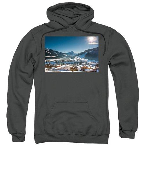 Warm Winter Day In Kirchberg Town Of Austria Sweatshirt