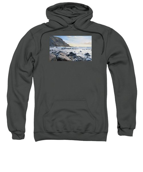 Sweatshirt featuring the painting Warren Point Sunset Duckpool by Lawrence Dyer