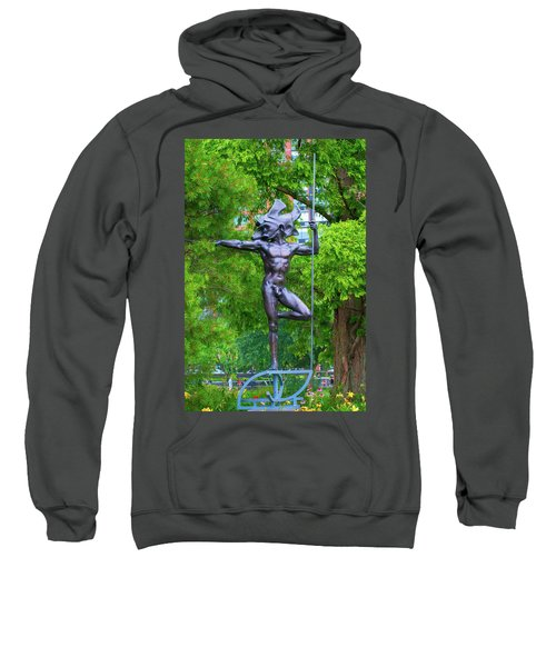 Warrior Guarding Battery Park Sweatshirt
